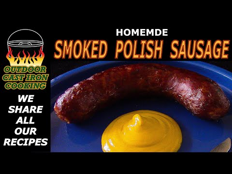 Homemade Smoked Polish Sausage