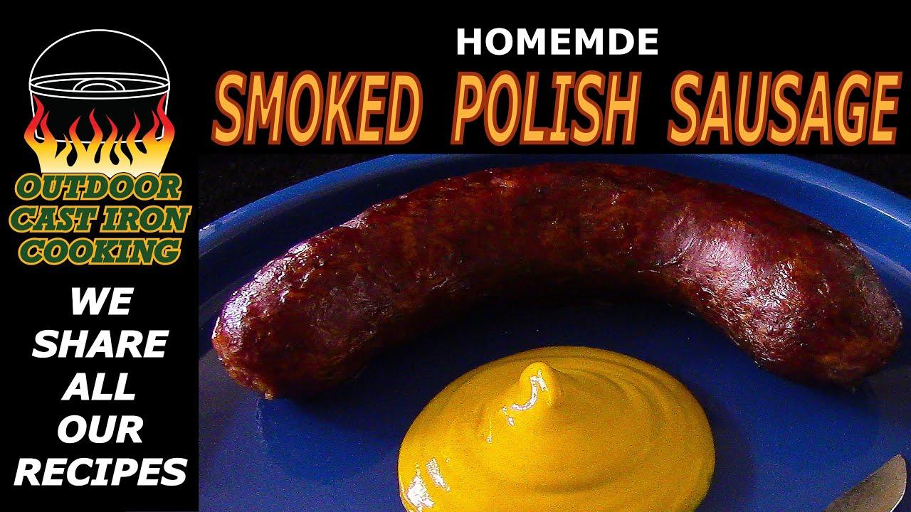 Homemade Smoked Polish Sausage - YouTube