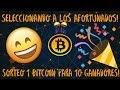 Sorteo 1 Bitcoin: Seleccionando Ganadores!