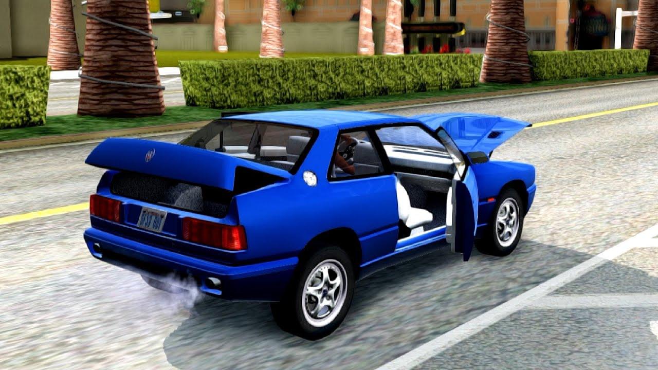 Maserati Ghibli II Cup AM336 1995   #101 New Cars / Vehicles in GTA San Andreas ENB - YouTube