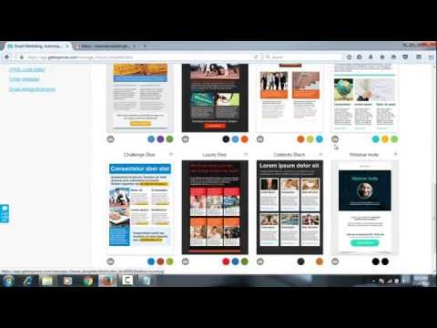 Email marketing tutorial : Create Newsletter by Getresponse
