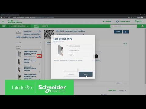 EcoStruxure Machine Advisor - How to Create Architecture of the Machine |  Schneider Electric Support