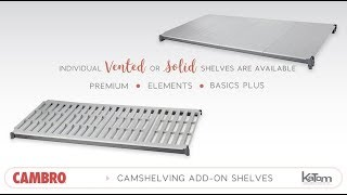 Cambro Camshelving Add-On Shelves
