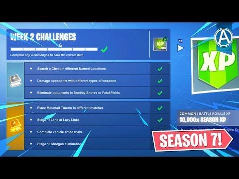 Fortnite Season 7 Week 2 Challenges Guide Fortnite Battle Royale