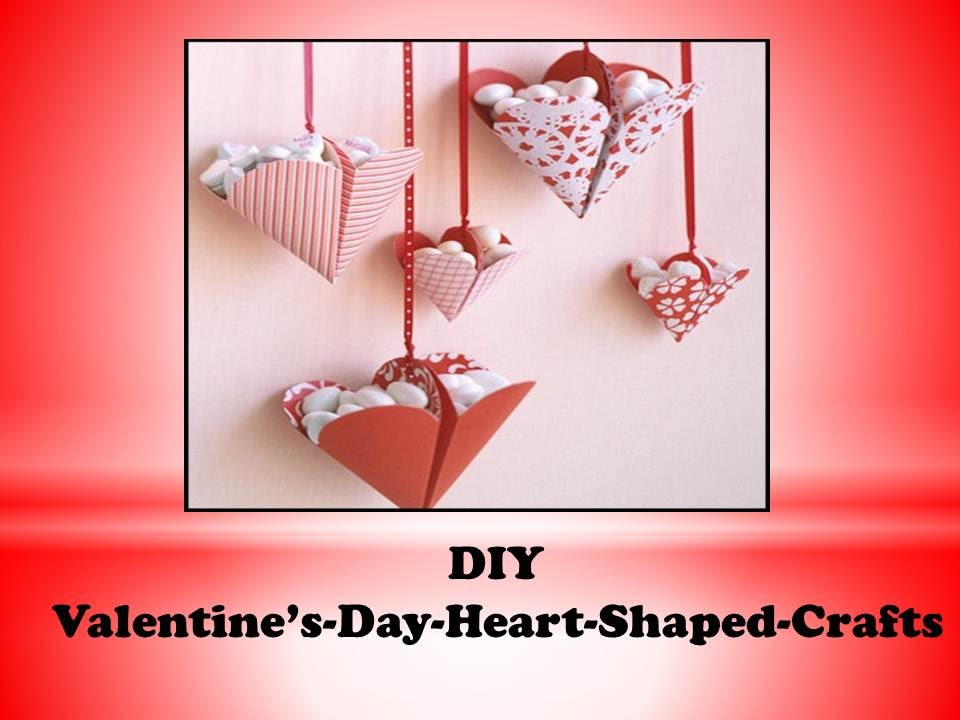 Diy Valentines Day Heart Shaped Crafts Bonbon Filled Hearts Made