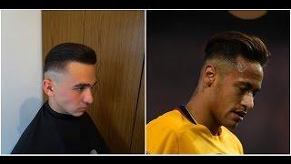 Neymar Jr. current haircut & hairstyle for season 2018 slick back hair  Cum sa te tunzi ca Neymar