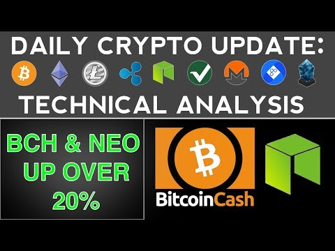 BITCOIN CASH & NEO UP OVER 20% (11/17/17) Daily Crypto Update + Technical Analysis