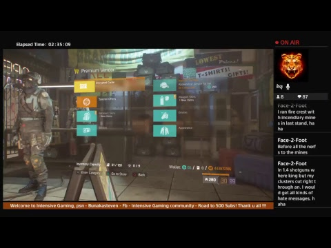 The Division - Global events - Credit grind chilling
