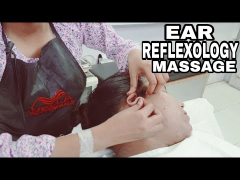 ASMR Ear Reflexology Massage By Female Barber Ep-02 #EarMassage