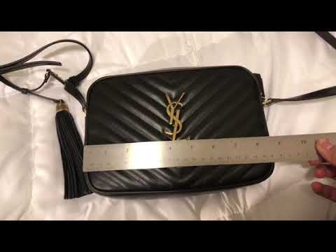 YSL Lou Camera Bag Black Quilted Leather with Gold Hardware