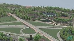 A 281, Bremen, Bauabschnitt 4 mit Wesertunnel, Visualisierung (Überflug)
