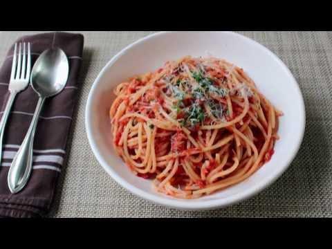 Spaghetti al Tonno Recipe - Spaghetti with Spicy Tuna Sauce