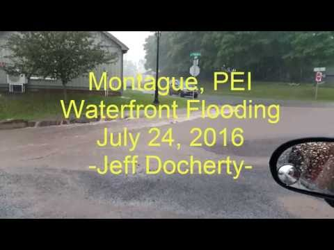 Montague, PEI - Waterfront Flooding - July 24, 2016