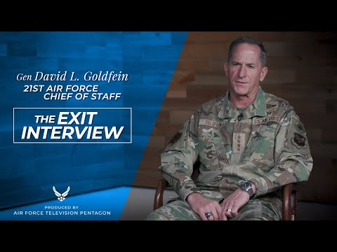 CSAF 21 Gen David L. Goldfein - The Exit Interview