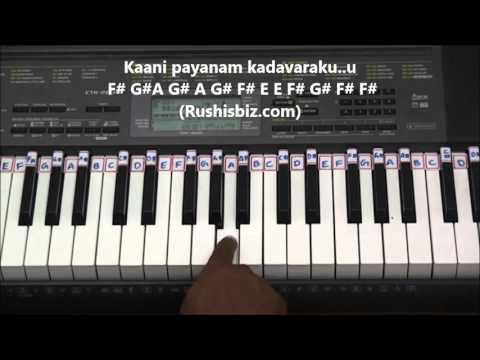 "Nee Gudu Chedirindi Piano Tutorials - Nayakudu | PDF Notes Just For ""1"" Rupee | CHECK DESCRIPTION"