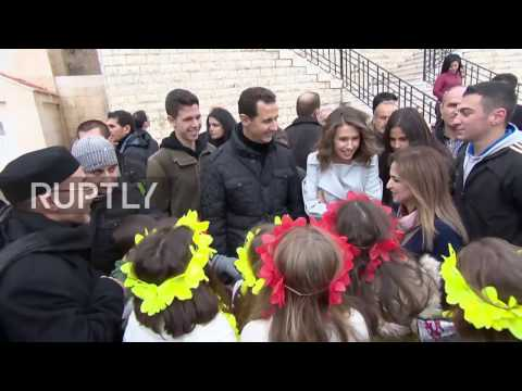 syria-assad-makes-christmas-visit-to-orphaned-children-at-sednaya-monastery
