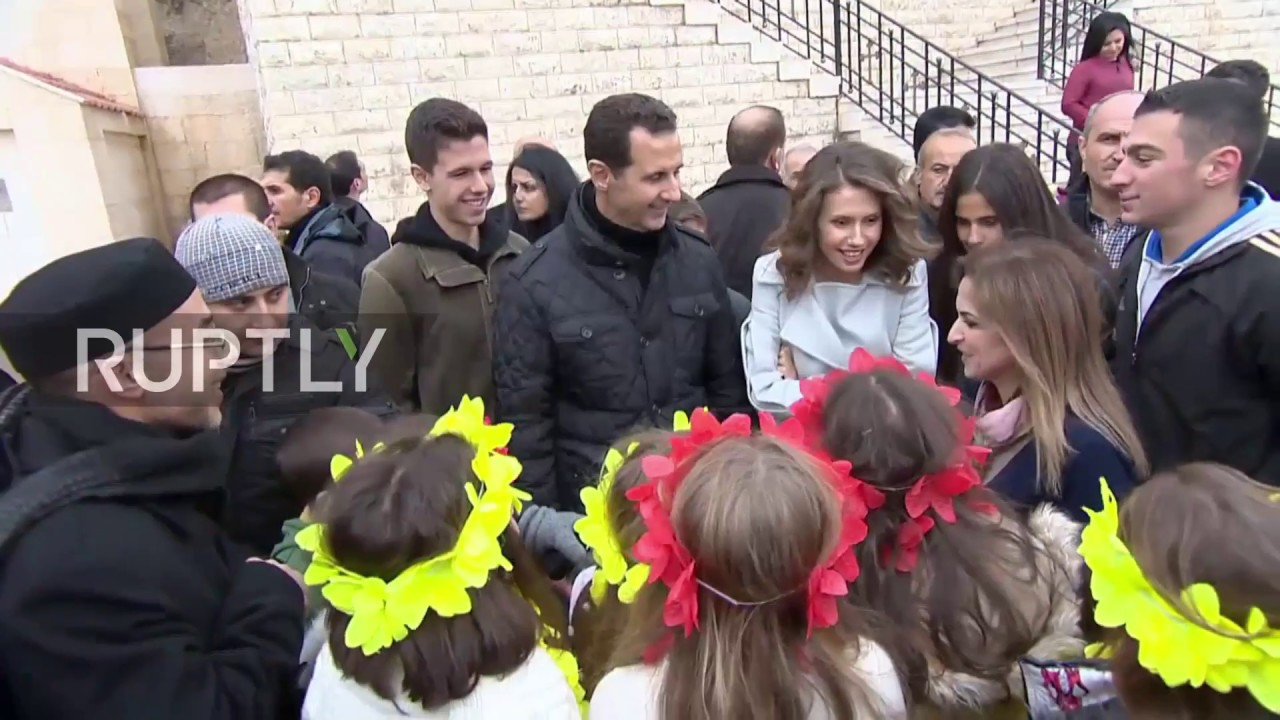 Syria: Assad makes Christmas visit to orphaned children at ...