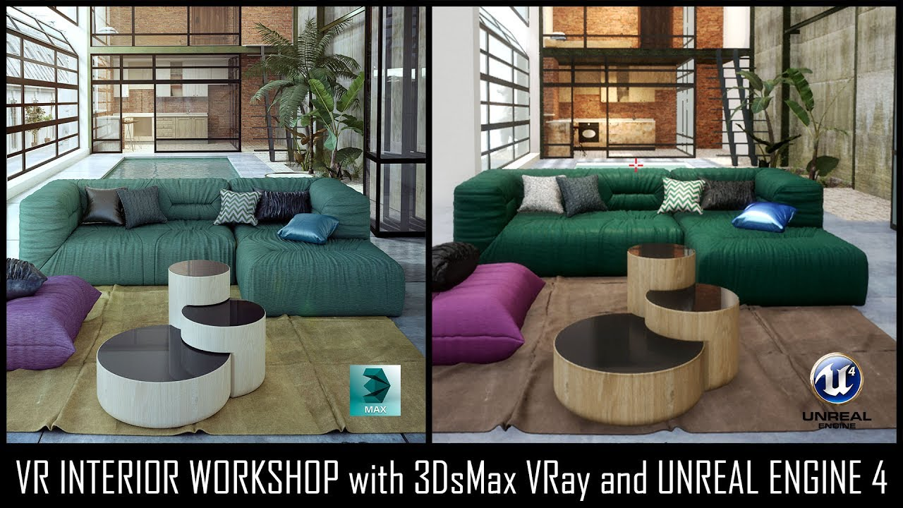 Vr Interior Workshp With 3dsmax Vray And Unreal Engine 4