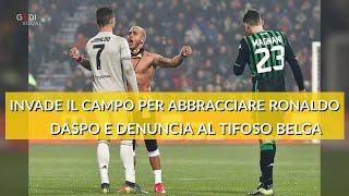 Sassuolo-Juventus, tifoso invade il campo per abbracciare Ronaldo: punito con daspo e denuncia