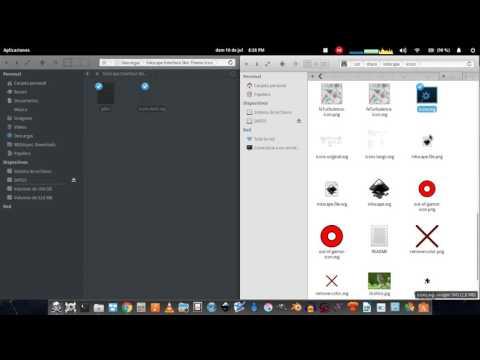 inkscape tema dark y como cambiar iconos
