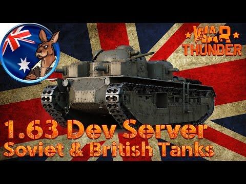 War Thunder: 1.63 Dev Server USSR and British Tanks