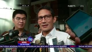 Download Video Sandiaga Diperiksa Dua Kasus Korupsi oleh KPK - NET16 MP3 3GP MP4