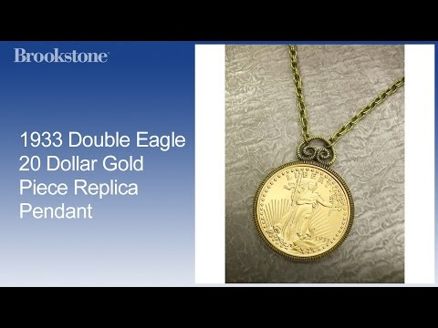 1933 Double Eagle 20 Dollar Gold Piece Replica Pendant