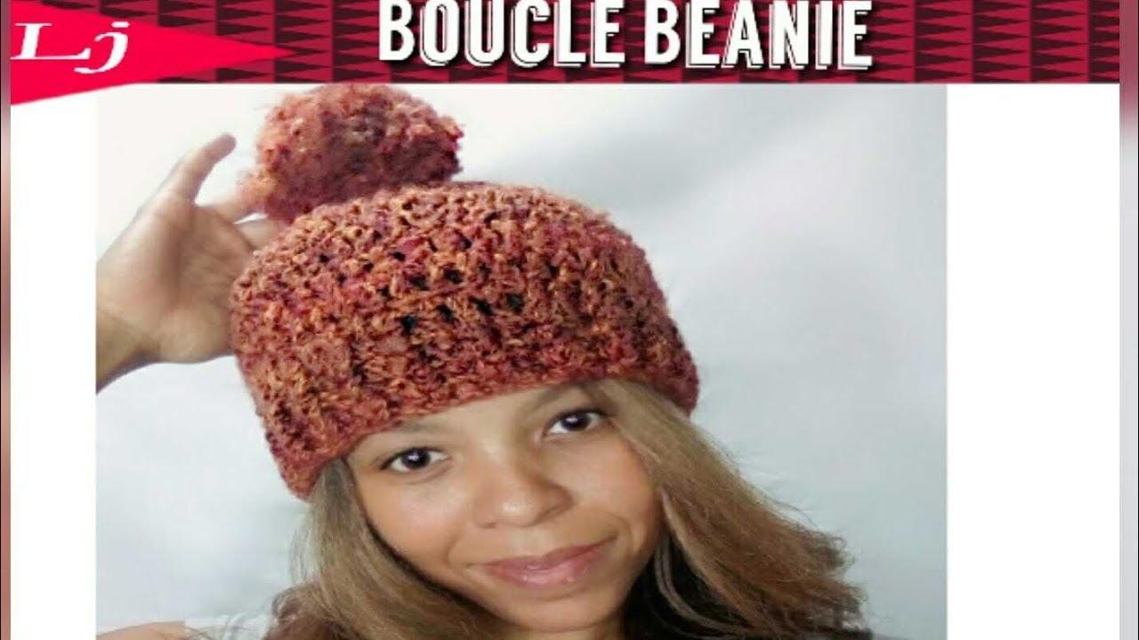 Boucle yarn Crochet Hat Pattern - Homespun yarn project - YouTube 606b4e52763