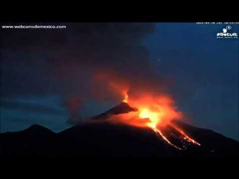Timelapse of Mexico's Colima volcano erupting   BBC News