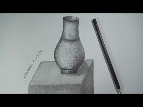 تعلم الرسم رسم طبيعه صامته بالرصاص رسم جره Youtube