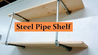 How to Make Steel Pipe Shelves
