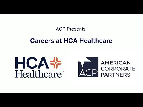 ACP Presents: Careers at HCA Healthcare