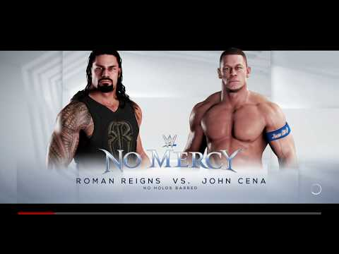 WWE2K18 John Cena vs Roman Riegn No Mercy