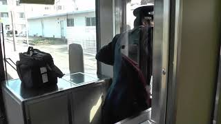あいの風とやま鉄道、富山駅泊方面高架化完成前日の3月3日(日)の富山駅を見物。(富山駅~高岡。ワンマン列車)