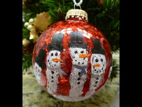 DIY CHRISTMAS HANDPRINT SNOWMAN ORNAMENT EASY HOW TO  YouTube