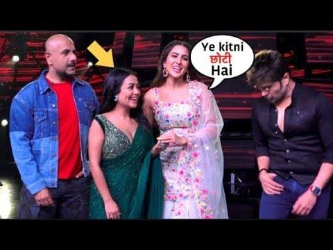 Sara Ali Khan Makes Fun Of Neha Kakkar Height On Indian Idol 11 During Love Aaj Kal 2 Promotions Youtube
