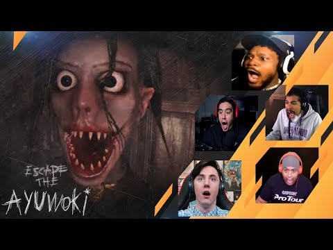Gamers Reactions to the GAME OVER (JUMPSCARE) | Escape the Ayuwoki