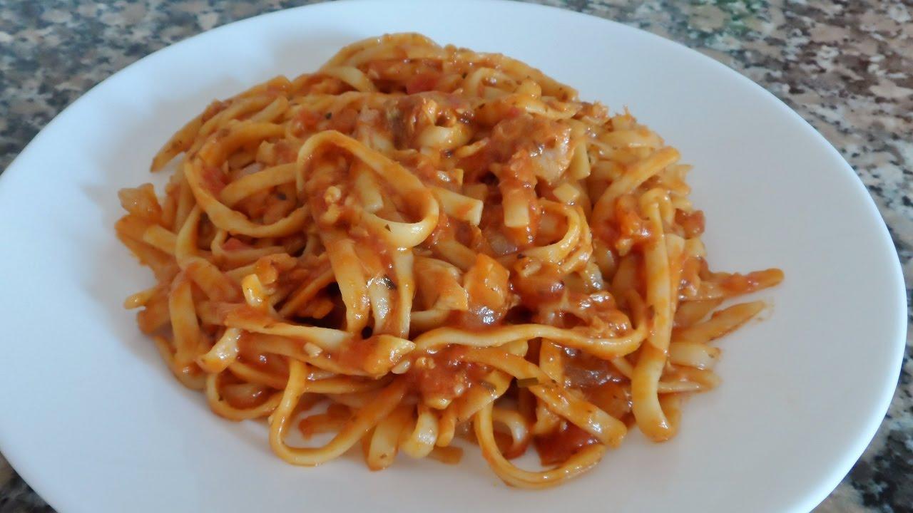 Recetas Por 5 Espaguetis Con Atún Cocinera Doméstica Youtube