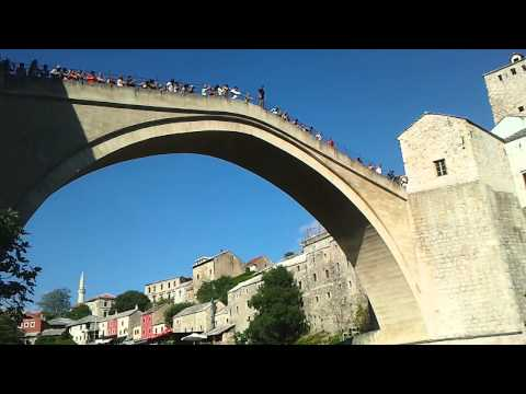 Mostar - Jump from the Old Bridge