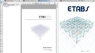 ETABS - 13 إنشاء تقارير: شاهد و تعلم
