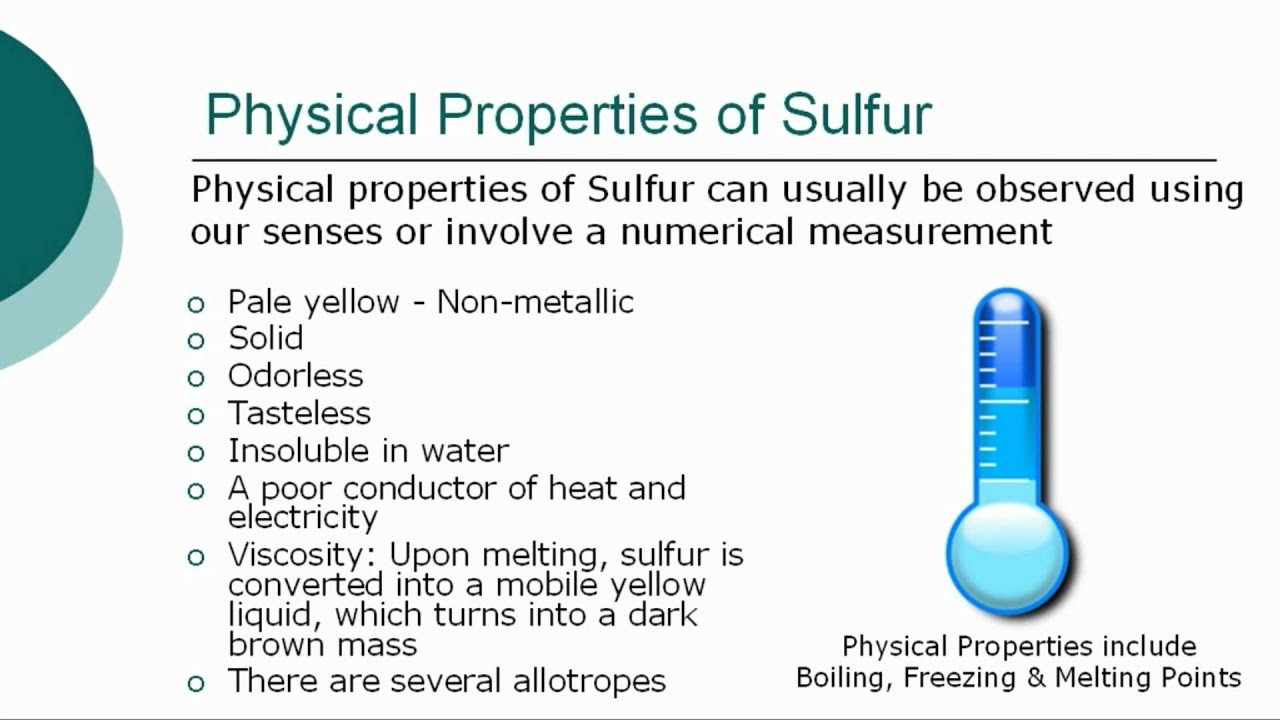 Element Sulfur Physical Properties