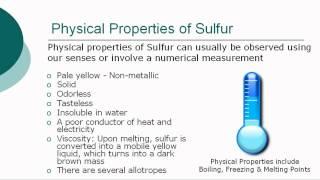 Sulfur ***