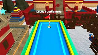 Mini golf 3d city stars arcade level 1