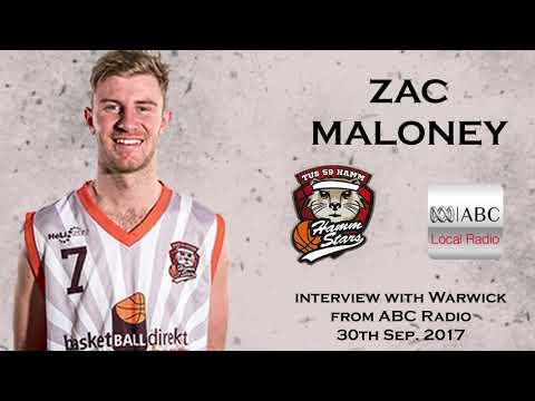 Zac Maloney - Interview with Warwick from ABC radio