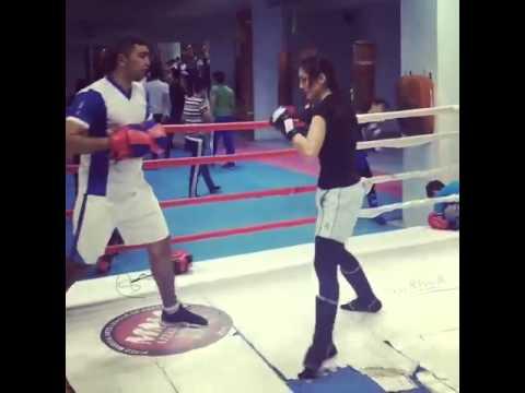 Azerbaijan Girl fighter kickboxing