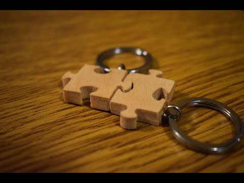 Making Wooden Puzzle Keychains   Scroll Saw