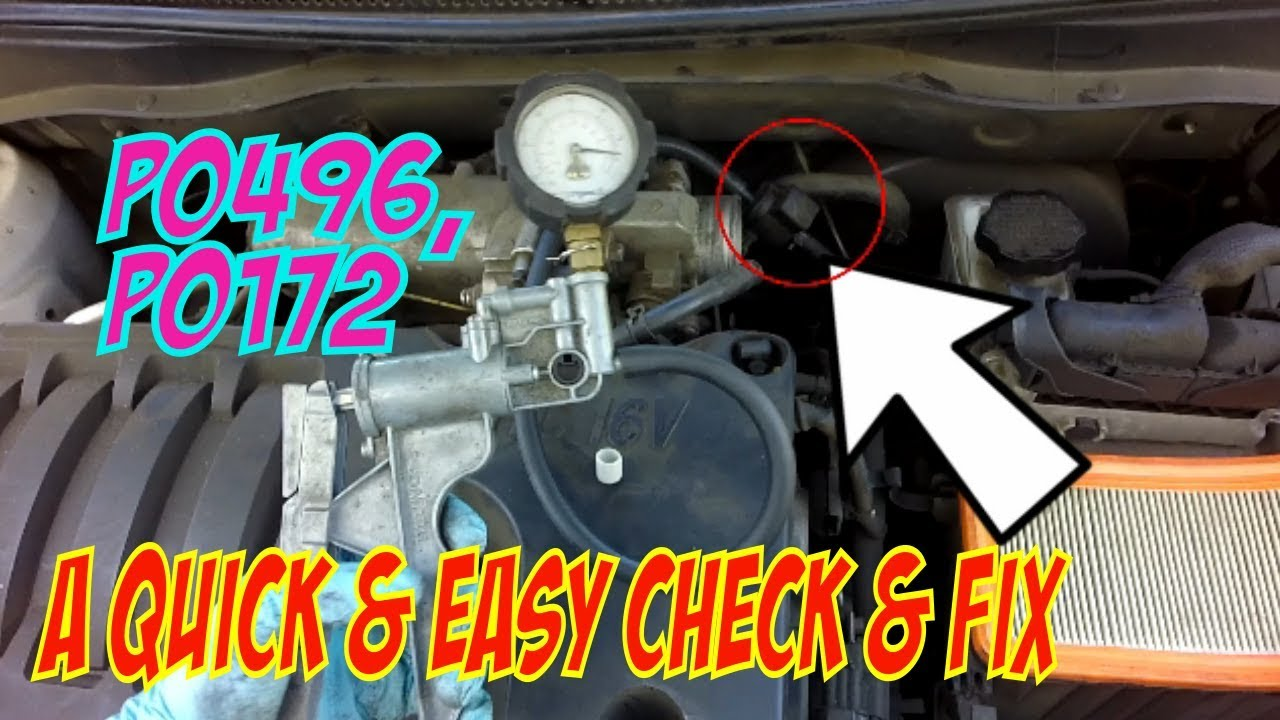 P0496 P0172 Check Fix Youtube 2010 Hyundai Accent Fuel Filter