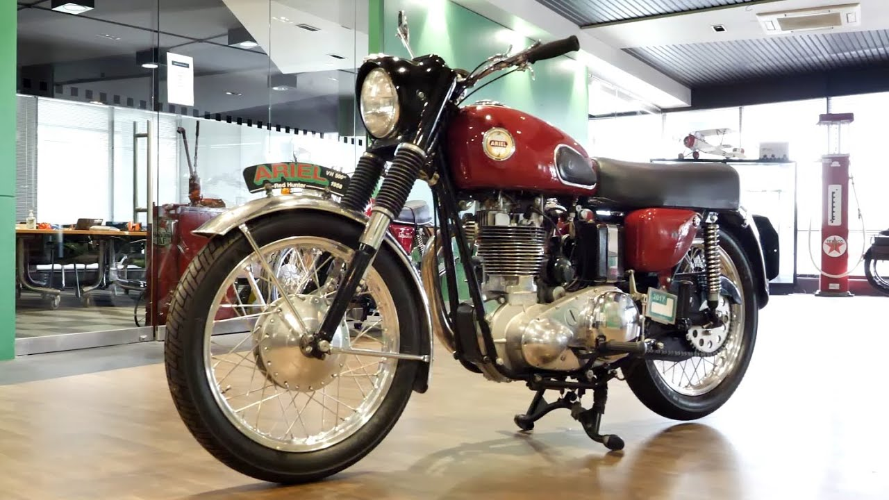 1958 Ariel VH Red Hunter 500cc Motorcycle -  2020 Shannons Winter Timed Online Auction