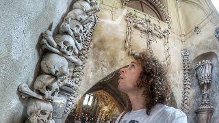 Una iglesia DE HUESOS HUMANOS!   República Checa thumbnail