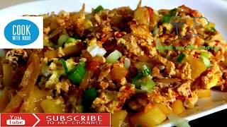 Classic Breakfast: potato egg breakfast| How to Make Eggs And Potato Curry